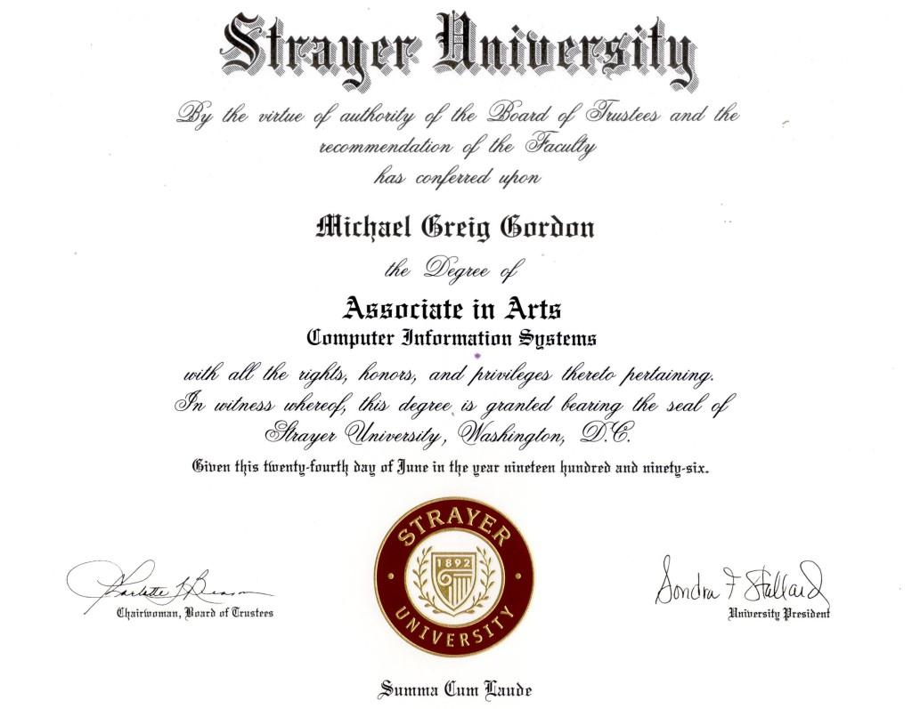 Michael G Gordon HTML Resume