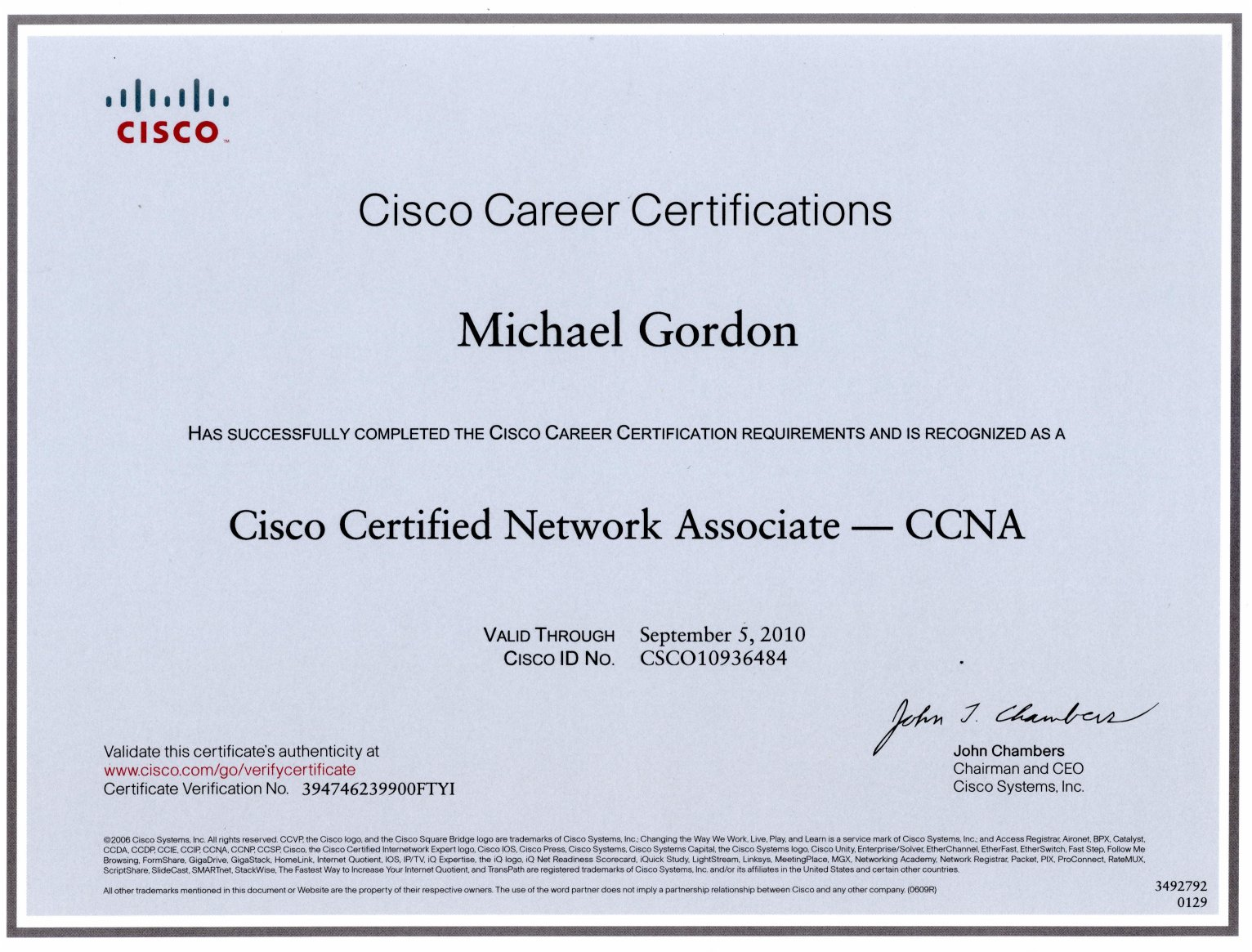 cisco resume