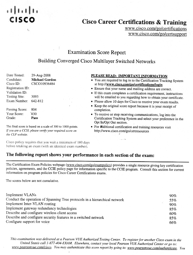Cisco Network Engineer Resume | Sample Resumes | LiveCareer com